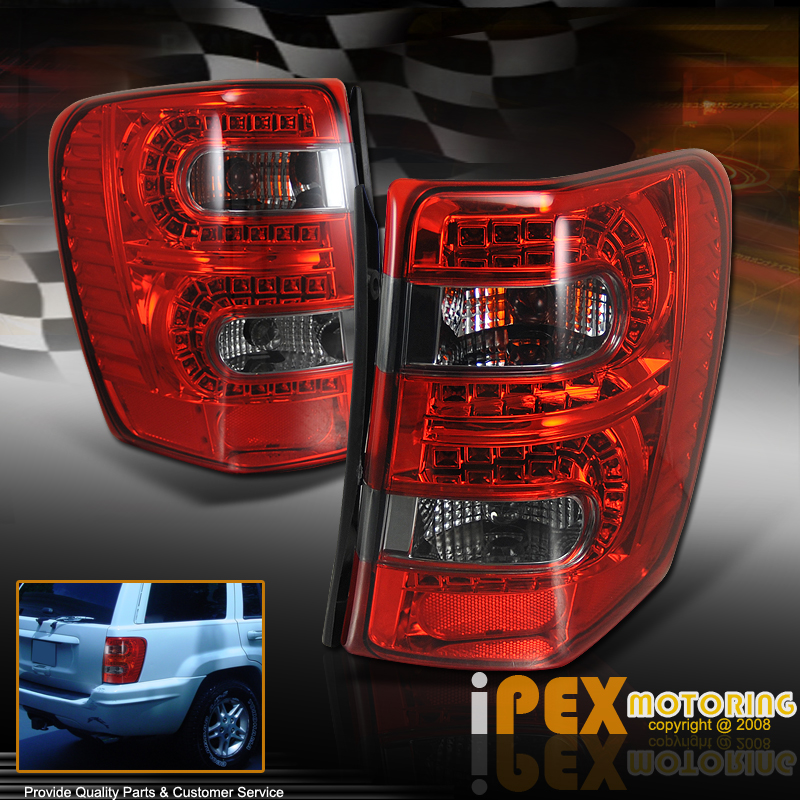 limited 99 04 jeep grand cherokee led tail lights lamp left right pair. Black Bedroom Furniture Sets. Home Design Ideas