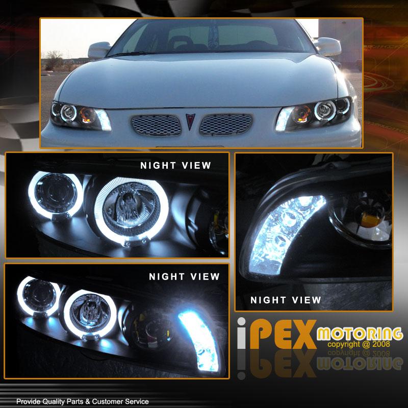 for 1997 2003 pontiac grand prix halo projector led black headlights headlamps ebay. Black Bedroom Furniture Sets. Home Design Ideas