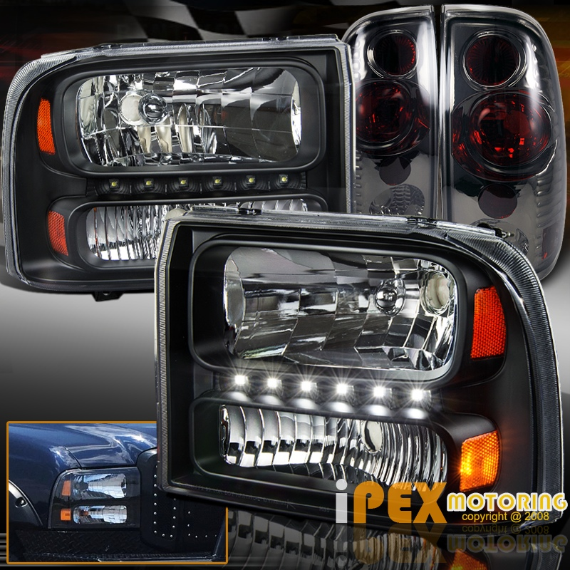 NEW 1999 2004 Ford F250 F350 Super Duty LED Black