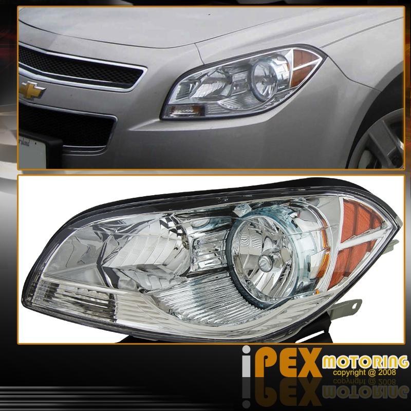 NEW 2008-2012 Chevy Malibu 4Dr Sedan Chrome Headlights