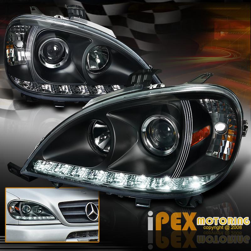 2002 2005 mercedes benz w163 ml ml350 ml500 projector led for Mercedes benz ml350 headlight bulb