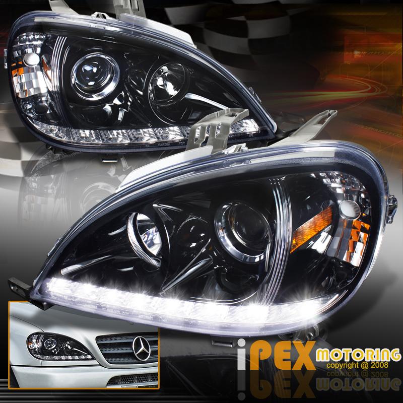 Shiny black 2002 2005 mercedes benz w163 ml350 ml500 for Mercedes benz ml350 headlight bulb