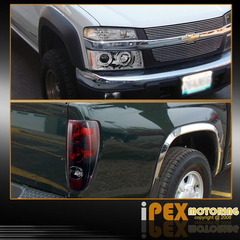 2012 Chevrolet Colorado Regular Cab Head Gasket: COMBO: 2005-2012 Chevy Colorado Projector LED Halo Head