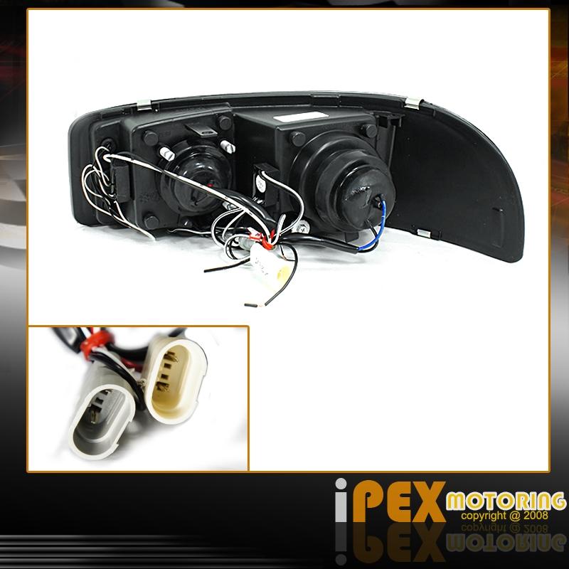 Gmc Sierra Tail Light Wiring Harness : Gmc sierra piano black headlight special