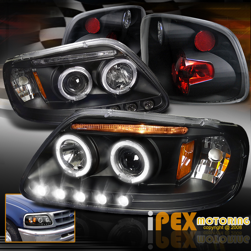 1997 2000 ford f150 flareside halo projector led. Black Bedroom Furniture Sets. Home Design Ideas