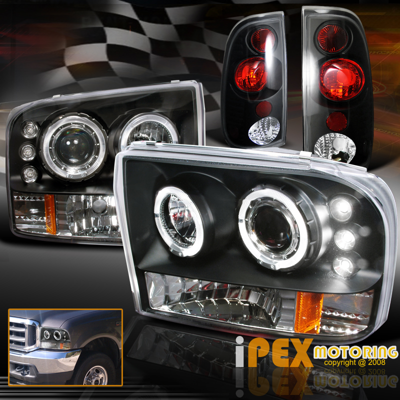 1999 2004 Ford F250 F350 SUPER DUTY Halo Projector LED