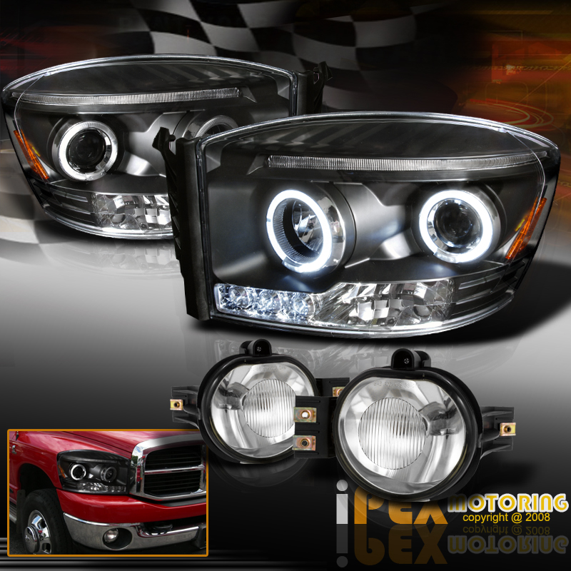 2006 2008 dodge ram 1500 2500 3500 halo projector led. Black Bedroom Furniture Sets. Home Design Ideas
