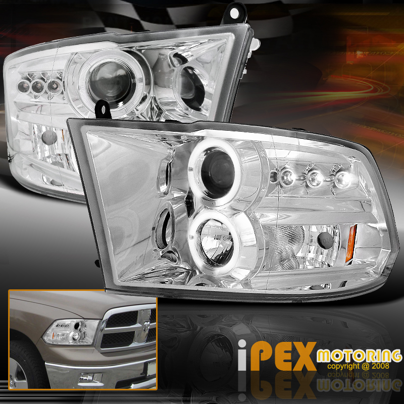 for 2009 2016 dodge ram 1500 2500 3500 projector led halo. Black Bedroom Furniture Sets. Home Design Ideas