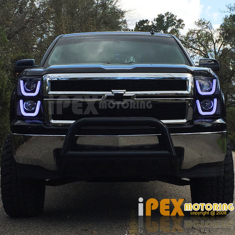 2015 2016 chevy silverado 1500 led glow bar led signals. Black Bedroom Furniture Sets. Home Design Ideas