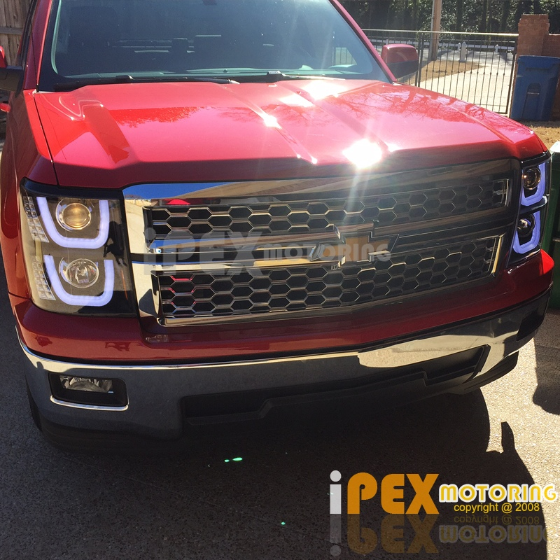 brightest led drl u bar 2015 2016 chevy silverado 1500. Black Bedroom Furniture Sets. Home Design Ideas