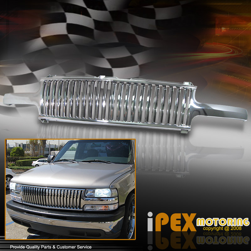 purchase best looking chrome grill 2000 2005 chevy suburban tahoe 1999 2002 silverado