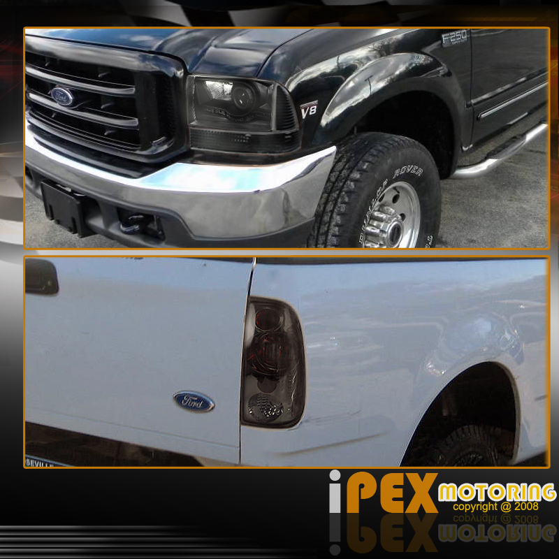 1999 2004 Ford F250 F350 Superduty LED Black Headlight