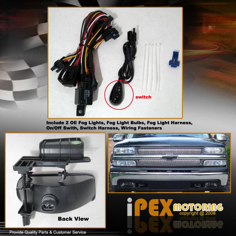 1999 2002 chevy silverado 2000 2006 tahoe oe style smoke fog light w wiring kit ebay