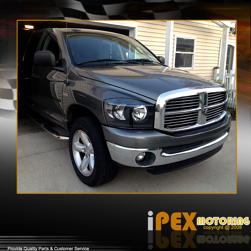 2008 dodge ram 1500 2500 3500 headlights w led tail lights ebay. Black Bedroom Furniture Sets. Home Design Ideas