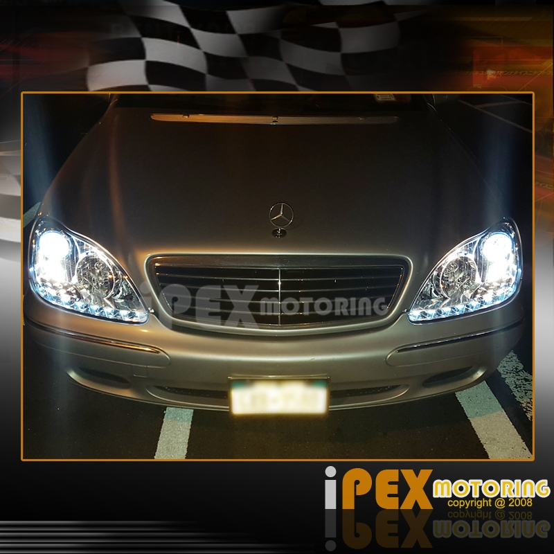 2000 2005 mercedes benz s class w220 s430 s500 s600 halo for Mercedes benz s430 headlight replacement