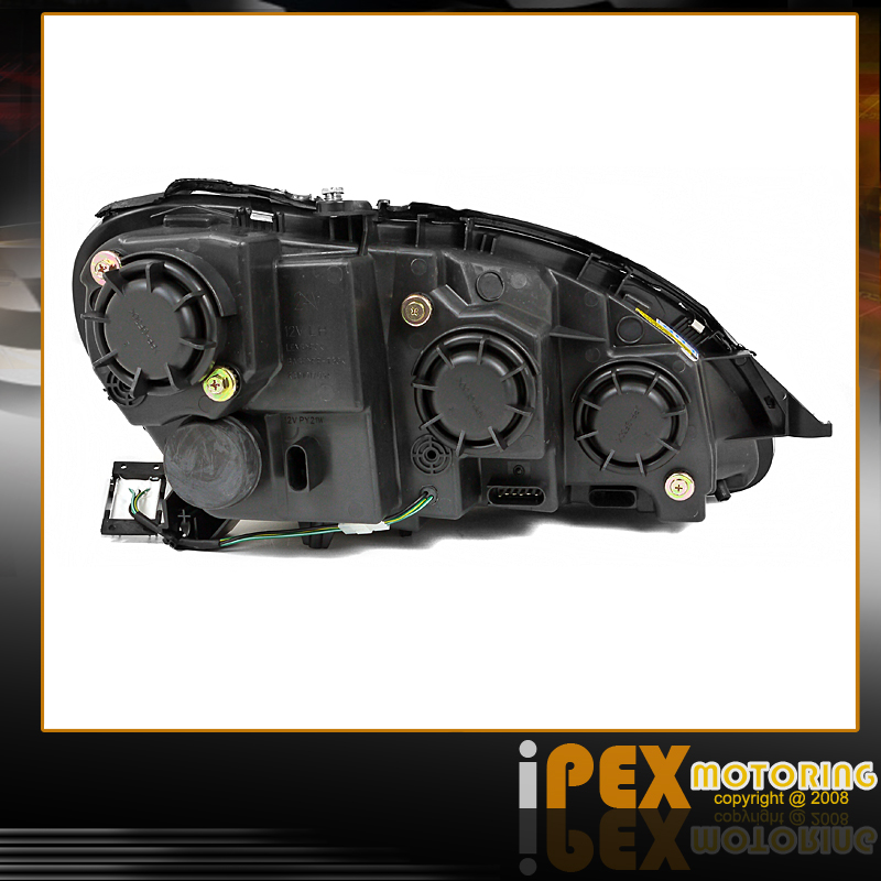 Black s class 2000 05 mercedes benz w220 halo projector for Mercedes benz s430 headlight replacement