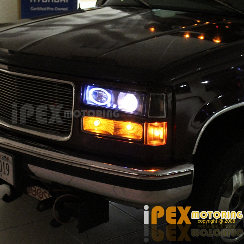 94 98 gmc sierra c1500 c2500 halo projector led black headlight 94 98 gmc sierra c1500 c2500 halo projector led black headlight tail light 10pcs