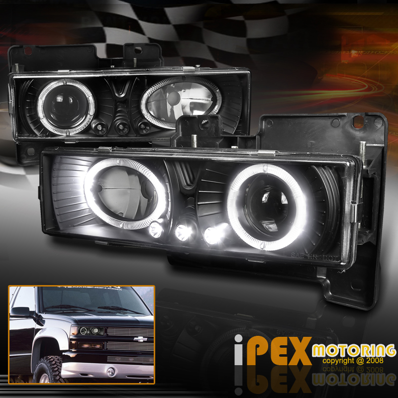 1998 chevy silverado car truck parts 88 98 chevy gmc silverado suburban tahoe c10 c k halo led projector