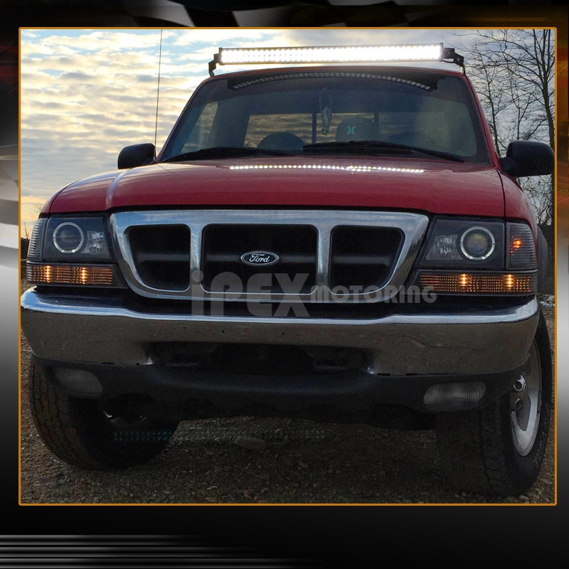 98 Ford Ranger Headlamp : Ford ranger halo led projector headlight w signal