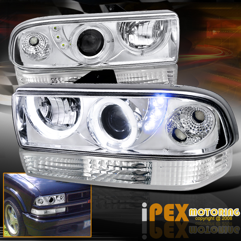 1998 2004 Chevy S10 Blazer Dual Halo Projector Led