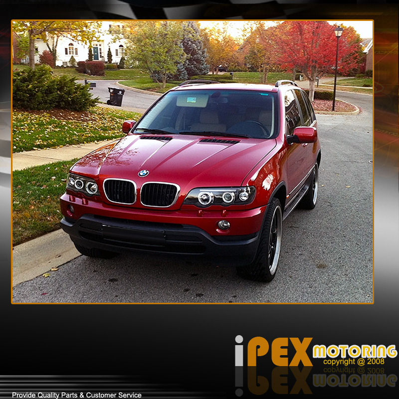 Facelift 2000-2003 BMW X5 E-53 E53 Halo Projector Black