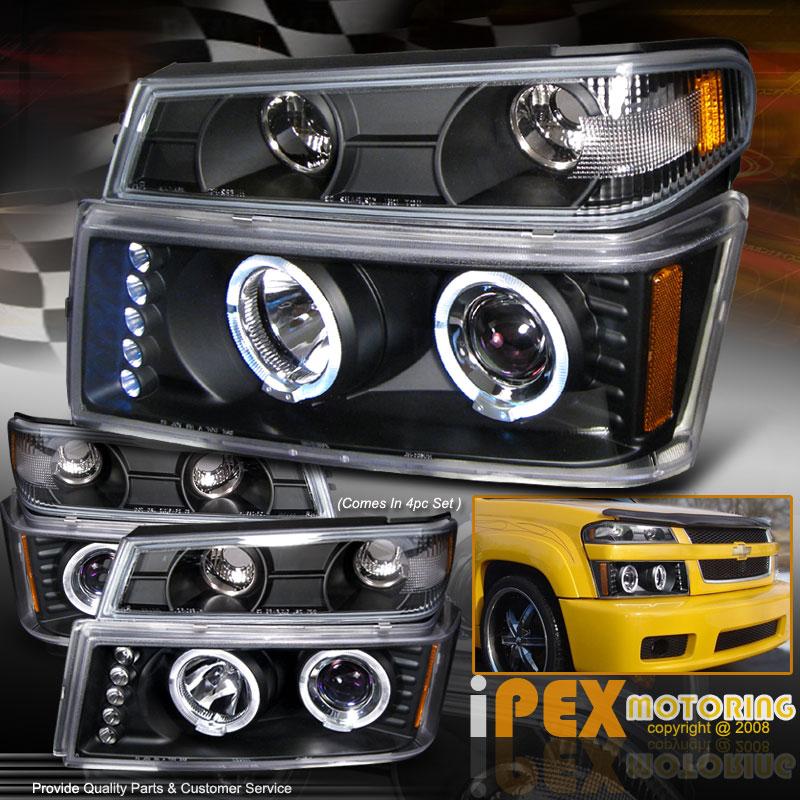 2012 Chevrolet Colorado Regular Cab Head Gasket: 04 12 GMC Canyon Chevy Colorado Halo LED Projector Black