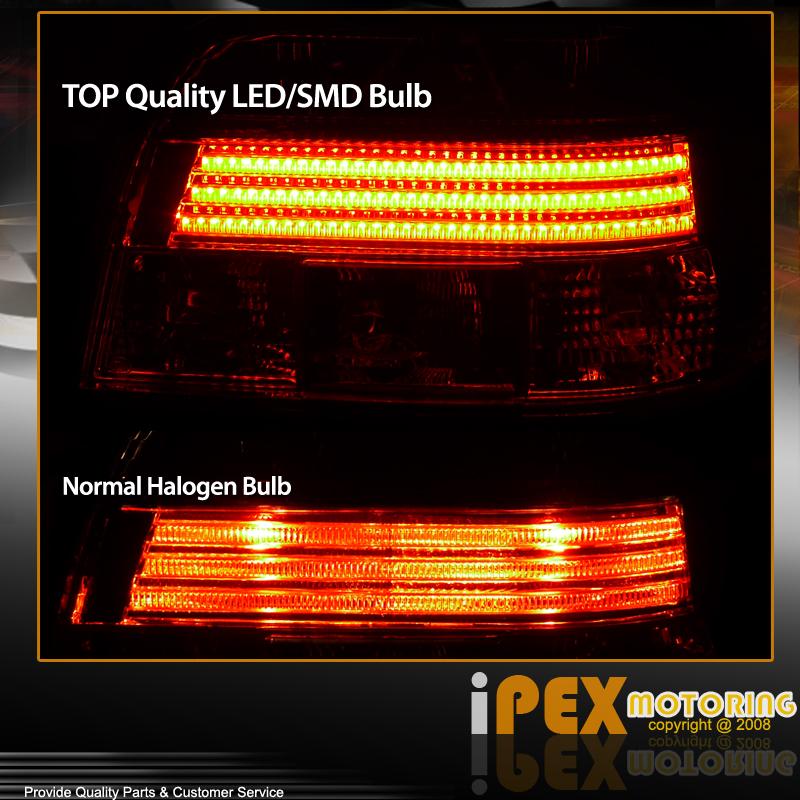 97 00 Bmw E39 5 Series Euro Clear Smd Led Bulb Strip Rear