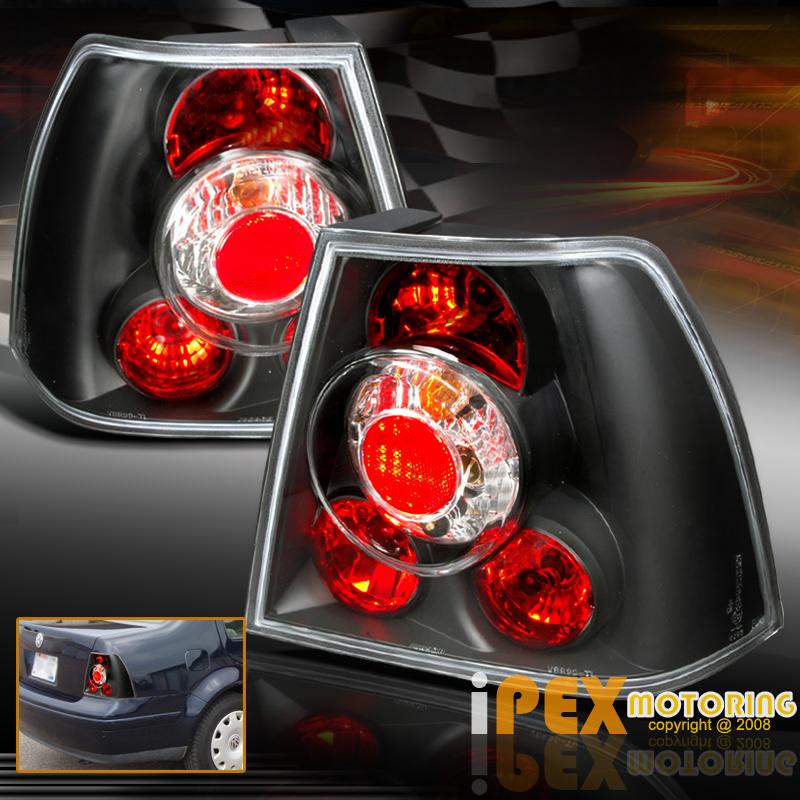 (Black) 1999-2004 VW Jetta BORA MK4 Halo LED Projector