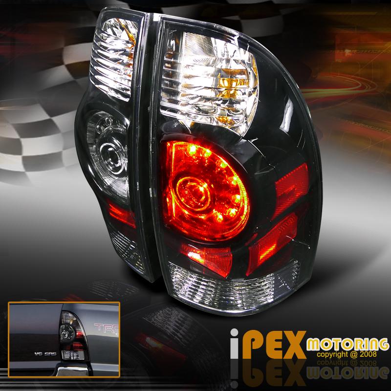 2005 2011 toyota tacoma halo projector black headlights. Black Bedroom Furniture Sets. Home Design Ideas