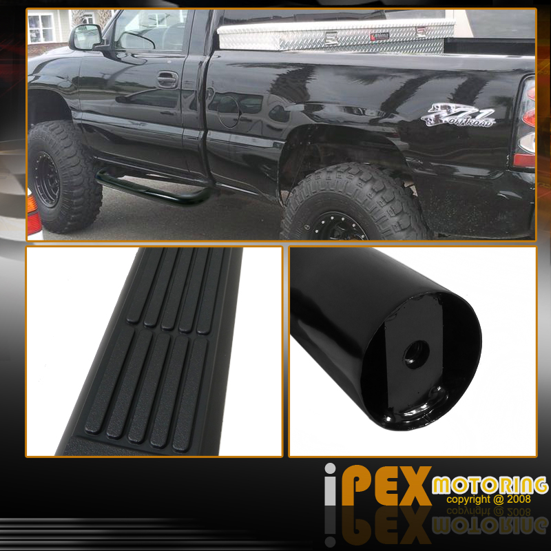 Black 99-12 Chevy Silverado GMC Sierra 1500 Regular Cab 3
