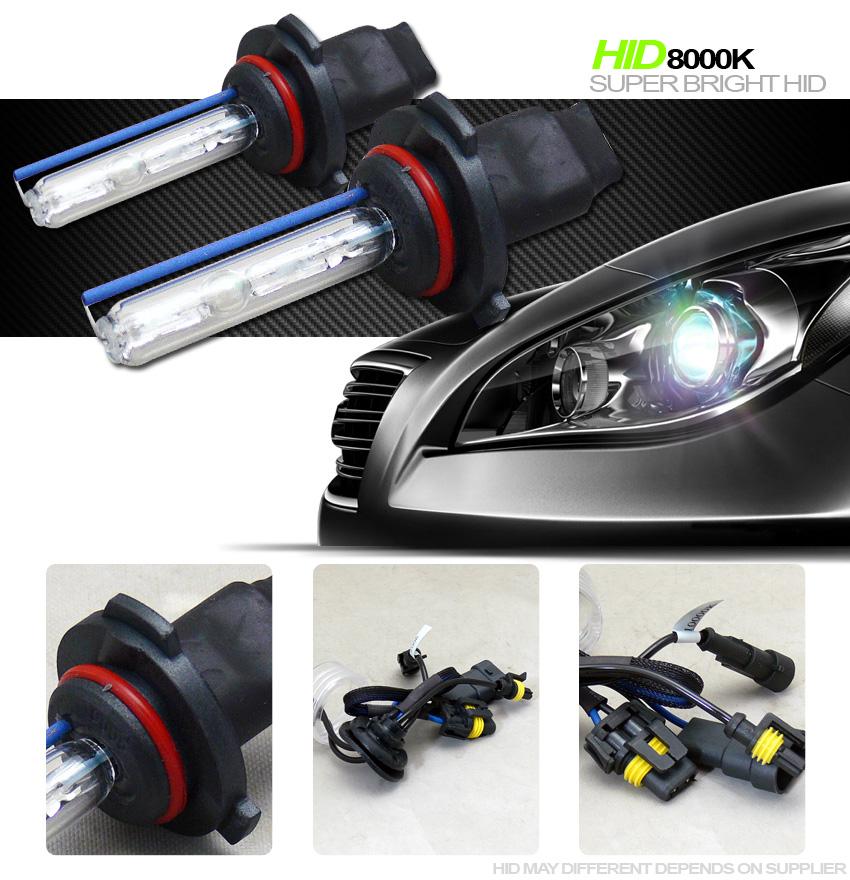 8000k hid xenon 9005 hb3 high beam headlights headlamps bulb conversion kit vk11. Black Bedroom Furniture Sets. Home Design Ideas