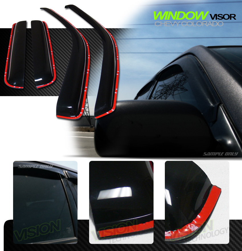 In-Channel Vent Shade Window Visor 4Pc 04-12 Chevy