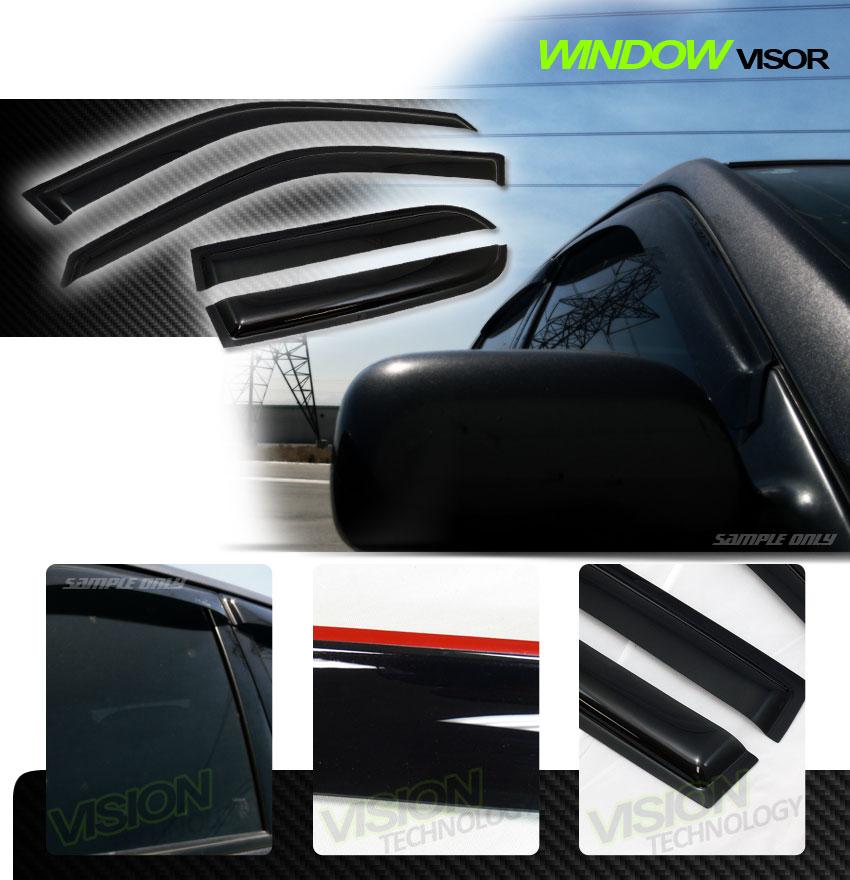 Jdm rain wind guard vent shade deflector window visors 4pc for 2002 honda civic rear window visor