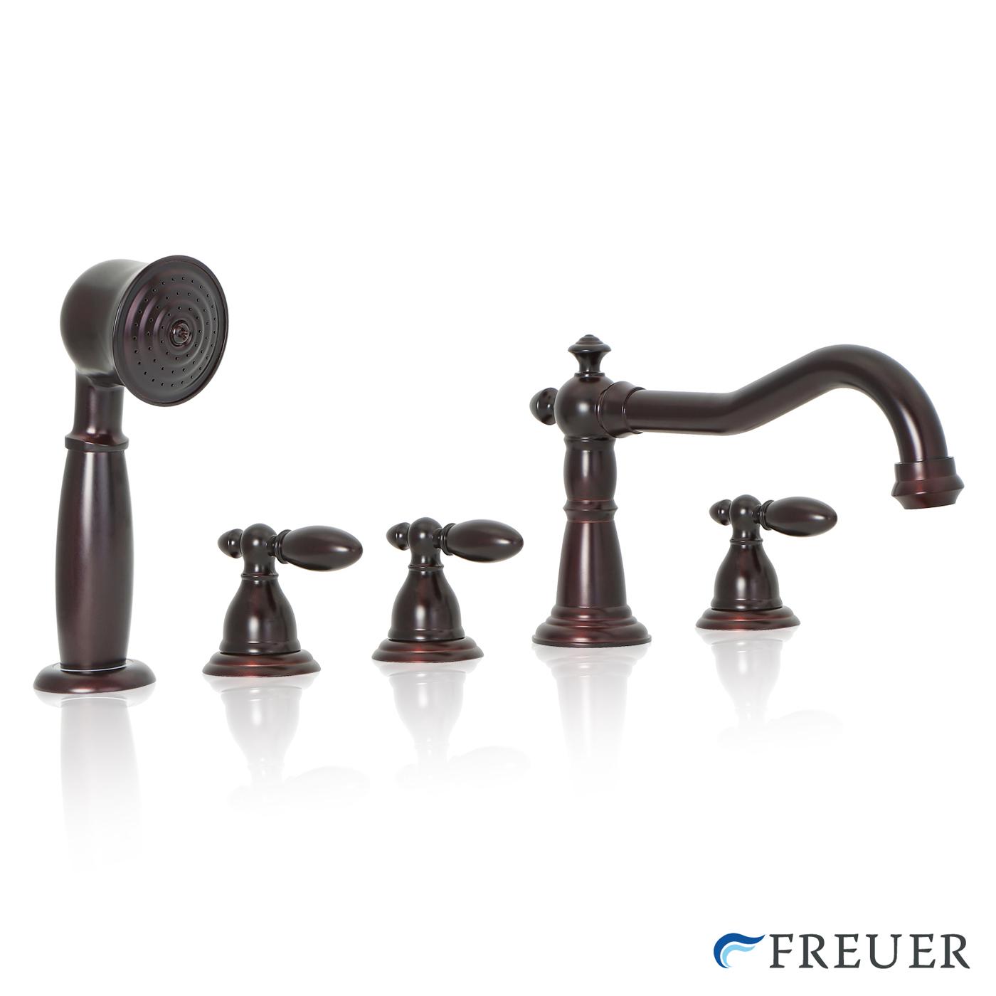 Bathtub Roman Tub Faucet Spout W Hand Shower Spray Oil Rubbed Bronze EBay