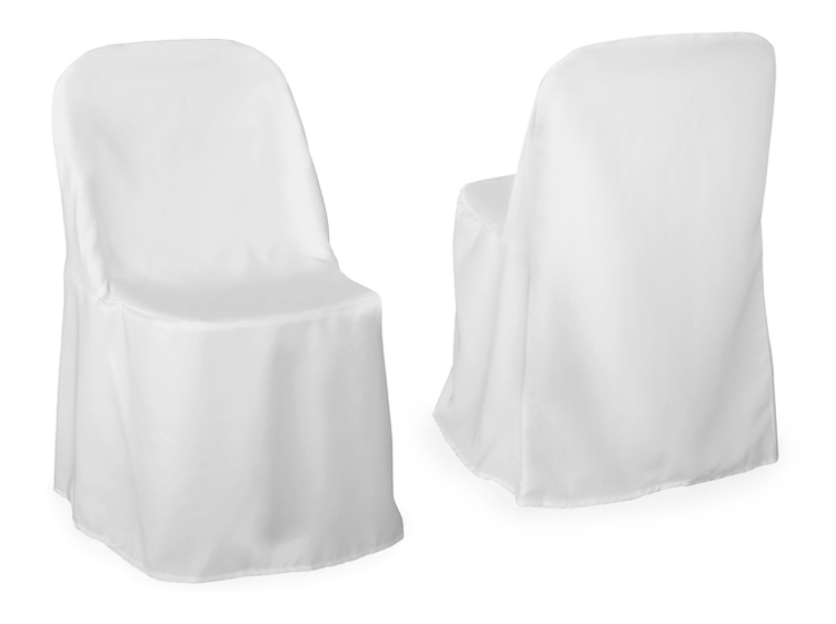 100 Premium Polyester White Folding Chair Covers