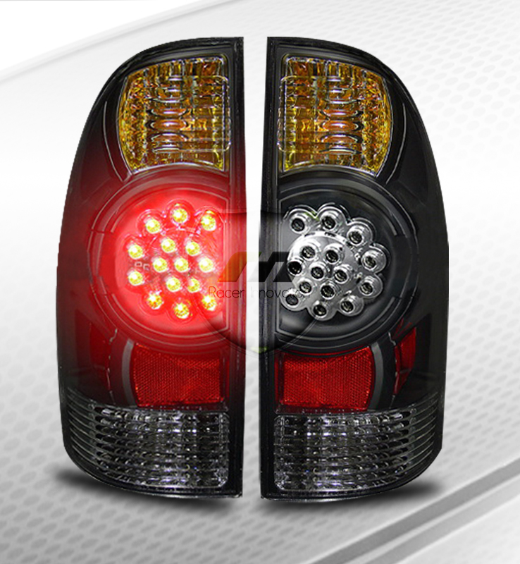 05 10 tacoma rear trunk lamps led tail lights jdm black ebay. Black Bedroom Furniture Sets. Home Design Ideas