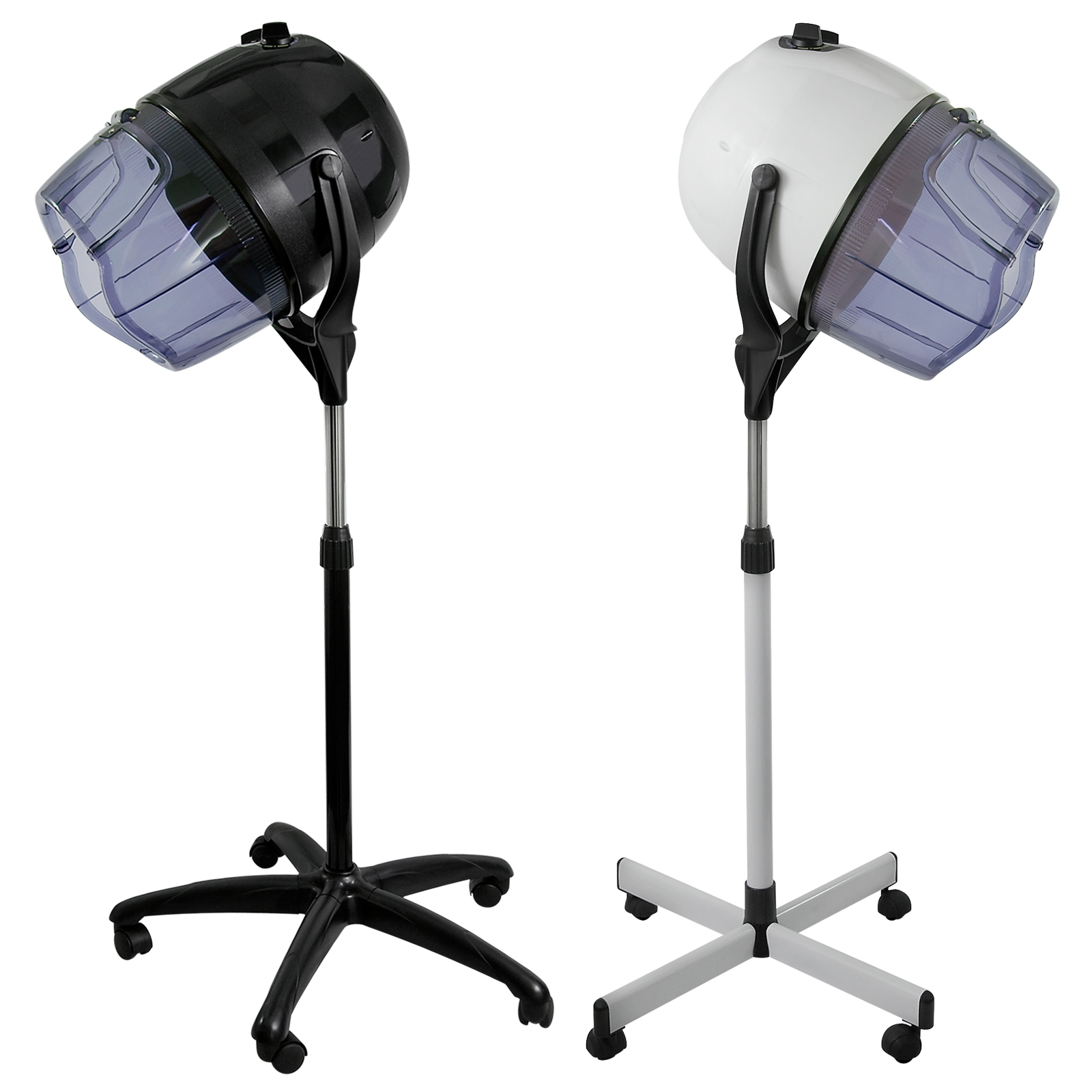 Salon chair hooded bonnet hair dryer standing rolling for Salon stand