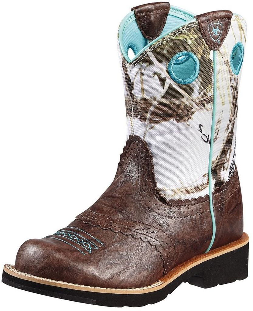 Ariat Fatbaby Boots Girls Kids Cowboy Boots Cowgirl Brown 10010259 at Sears.com