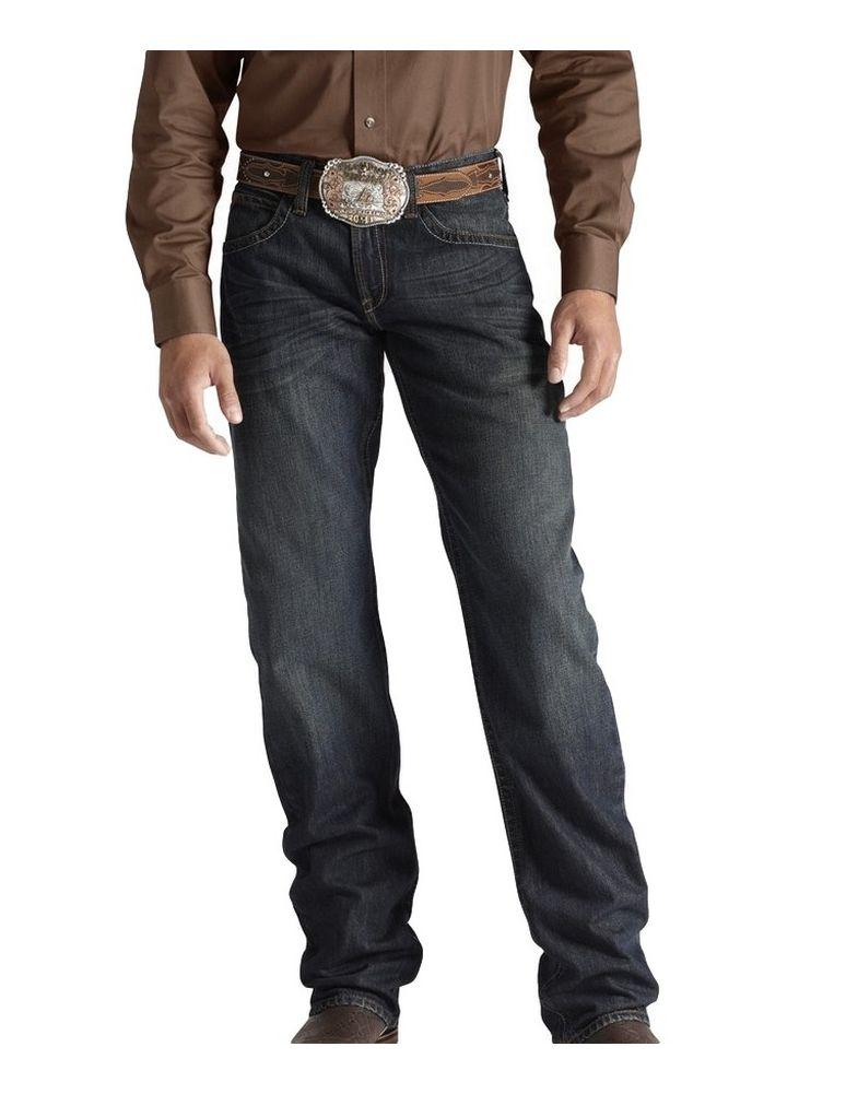 Western Denim Jeans Mens Athletic Dusty Road Dark 10011751