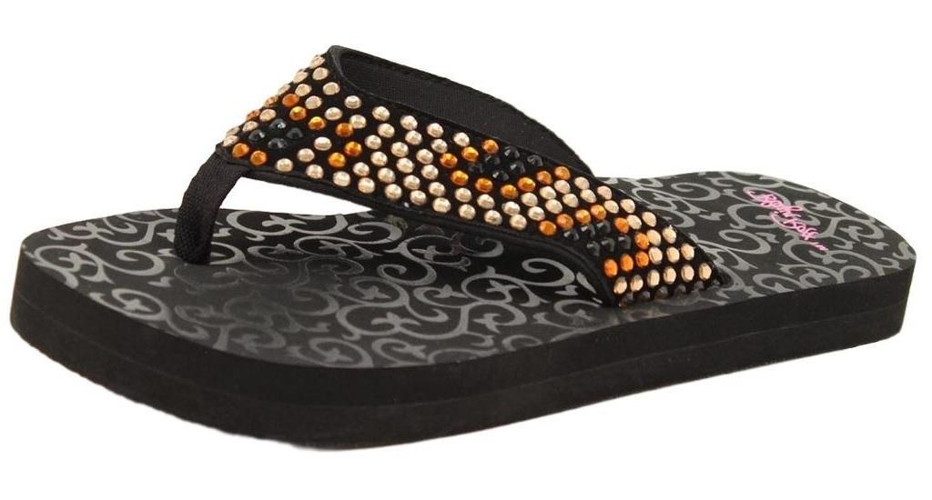 Blazin Roxx Western Shoes Womens Zandra Flip Flops Black 4112201