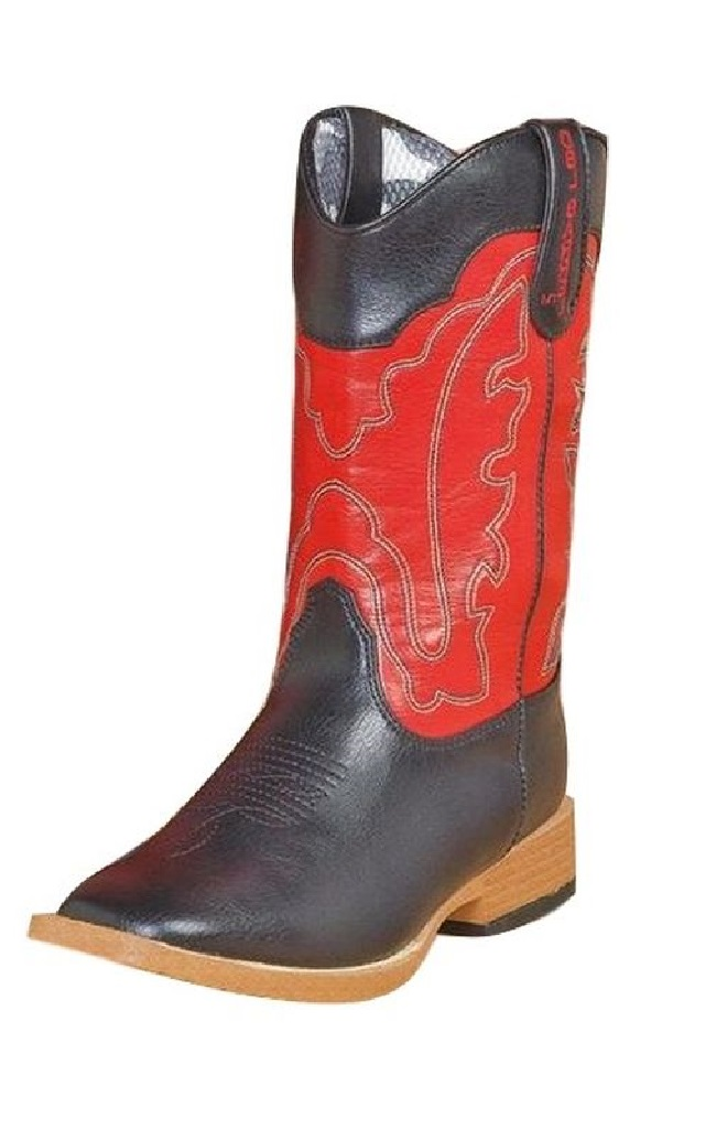 Double Barrel Western Boots Boy Trailboss Cowboy Kid Zip Black 4442001