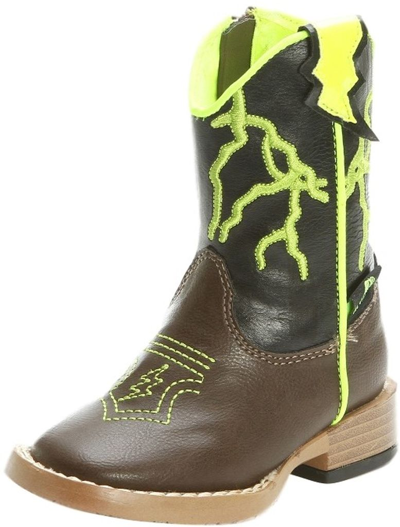 M&F Western Boots Boys Cowboy Ace Kids Lightening Bolt Brown 4445802 at Sears.com
