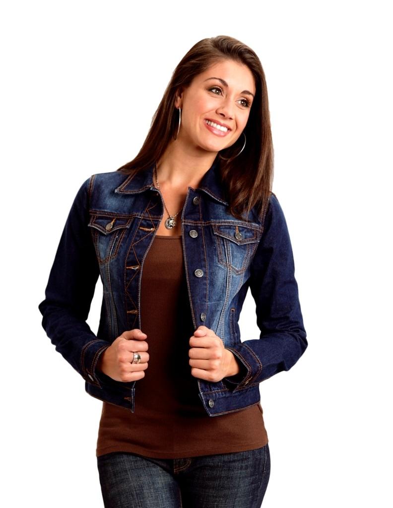 Roper Western Jacket Womens L/S Denim Solid Blue 03-098-0594-4102 BU at Sears.com