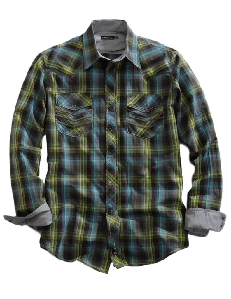 Tin Haul Western Shirt Mens L/S Plaid Snap Brown 10-001-0062-0723 BR at Sears.com