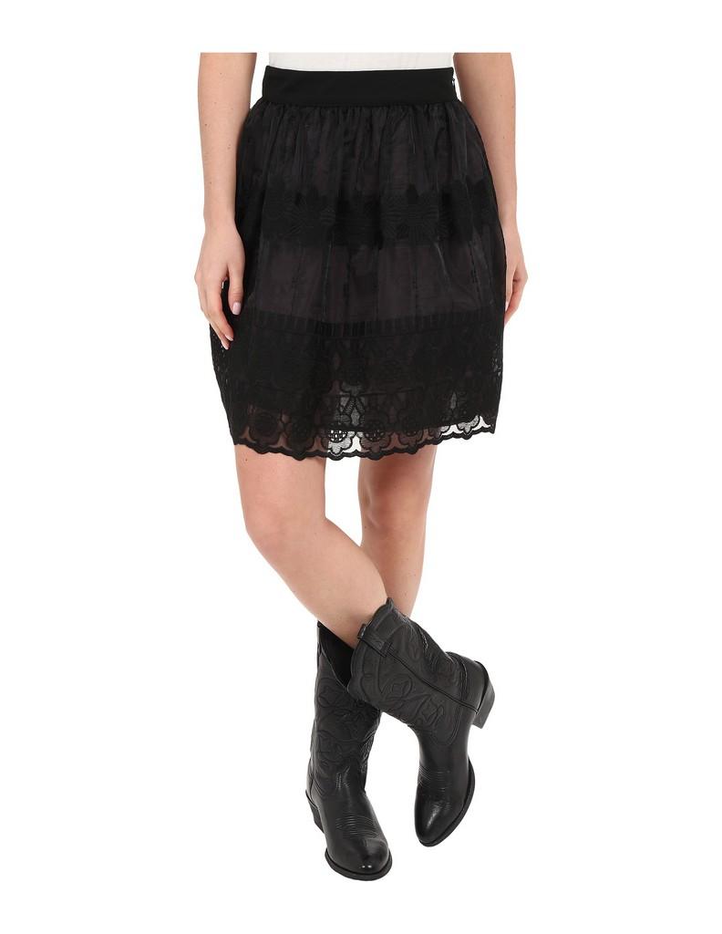 stetson western skirt womens organza lined black 11 060