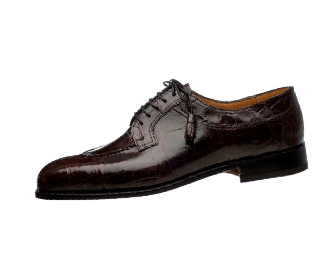 ferrini dress shoes mens belly gator leather lace up