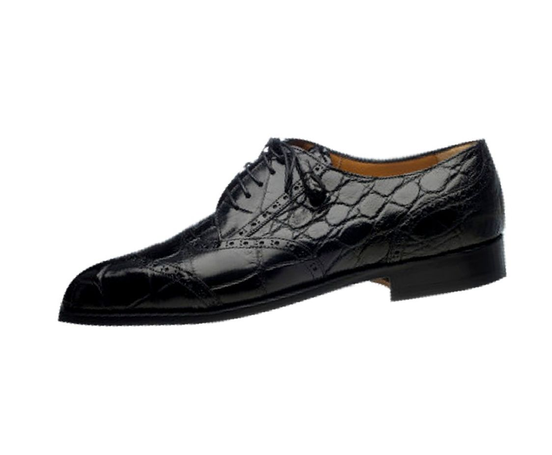 ferrini dress shoes mens alligator lace up lined leather