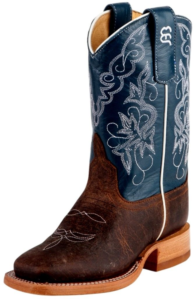 Anderson Bean Western Boots Boys Cowboy Toast Bison Blue K1107 at Sears.com