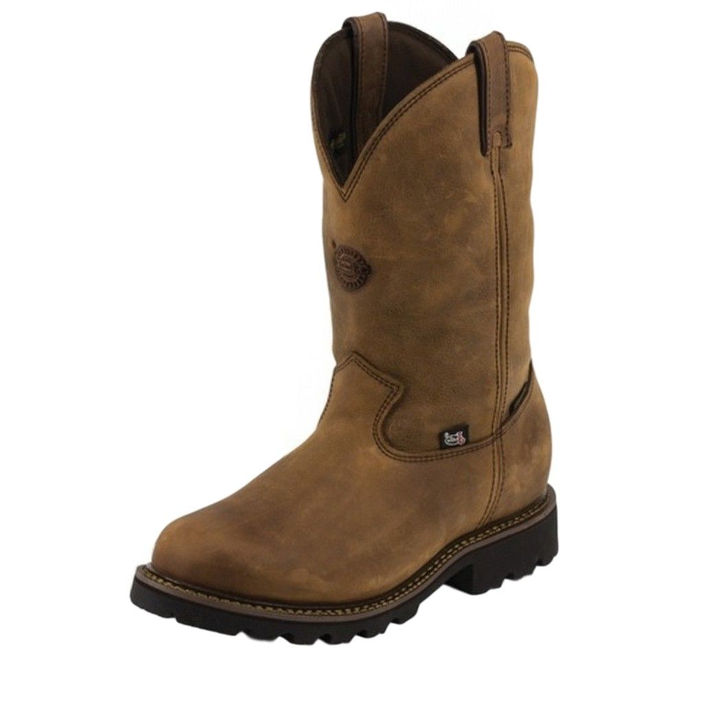 Justin Boots Work Boot Mens H20 Composition Toe Insulated Pullon Gaucho 4081