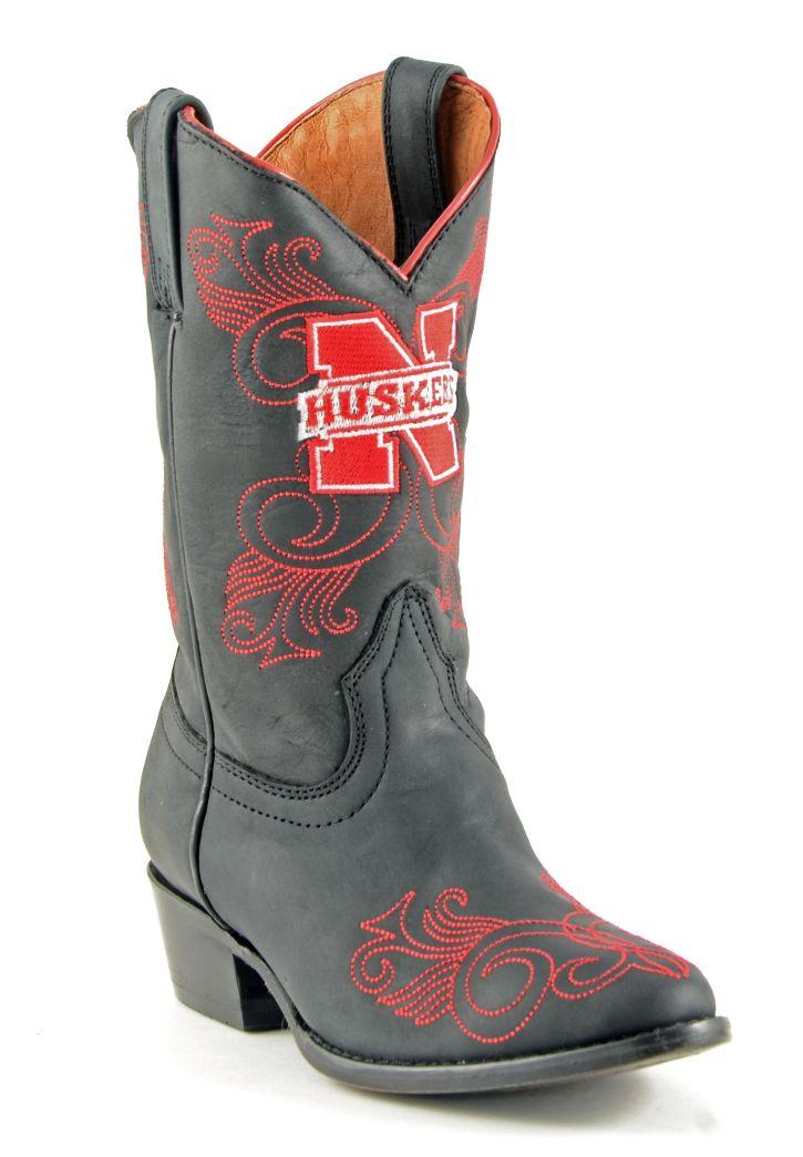 Gameday Boots Girls Cowboy College Team U of Nebraska Black NB-G052-2 at Sears.com